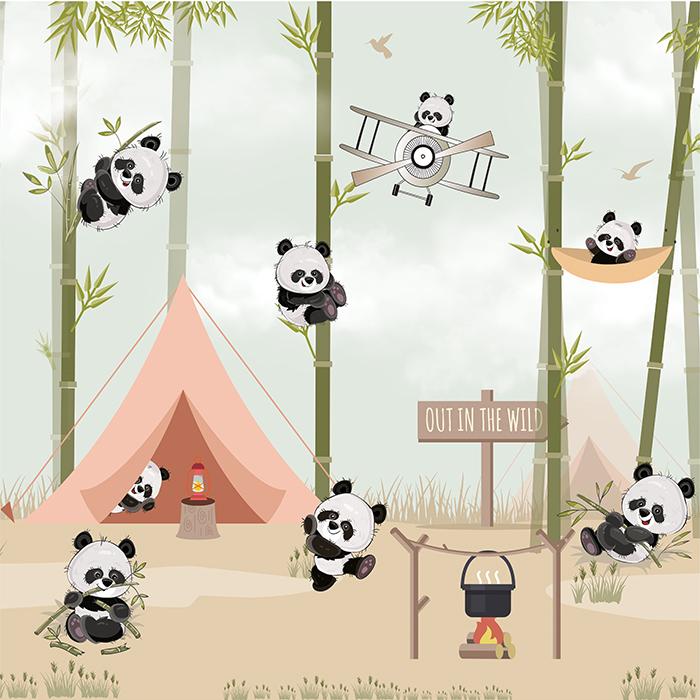Cute Panda Wallpapers For Kids Room Baby Nursery Mycutestickons