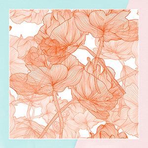 Orange Blossom Wallpaper for living room