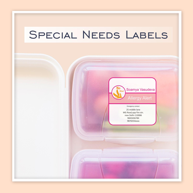 Autism alert label