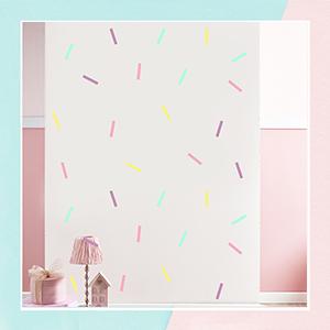 Candy Floss Sticks Mini Wall Art Sticker