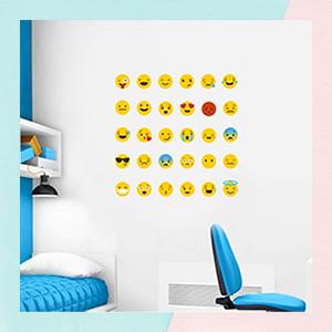 Emoji Mini Wall Art Stickers