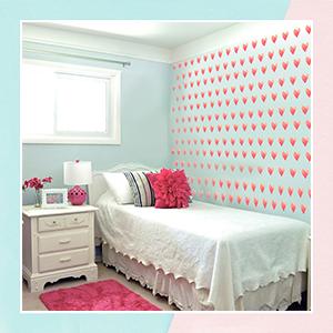 Paint A Heart Mini Wall Art Stickers