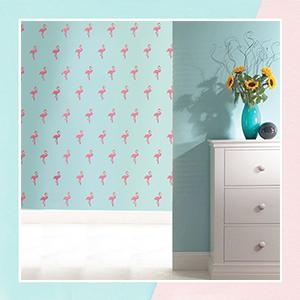 Fussy Flamingo Mini Wall Art Stickers