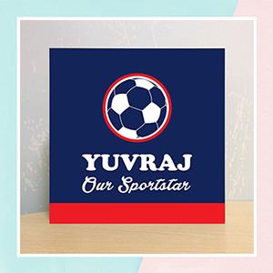 Football Illuminated Name  Canvas