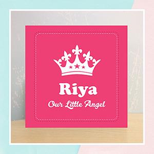 Little Angel Illuminated Name Canvas
