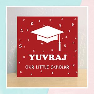Little Scholar Illuminated Name Canvas
