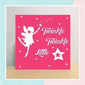 Twinkle Twinkle Illuminated Name Canvas