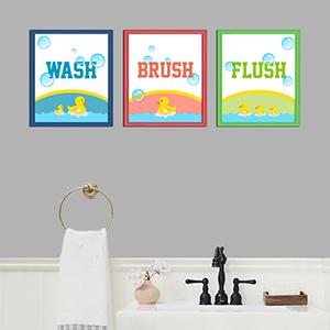 Yellow Duckies Bathroom Frames