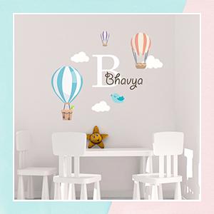 Hot Air Balloon Wall Name Sticker