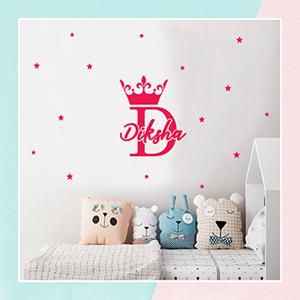 Princess Crown Wall Name Sticker