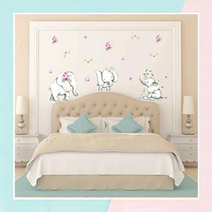 Cute Elephant Wall Decal for Baby Nursery