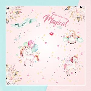 Watercolor Unicorn Theme Wallpaper