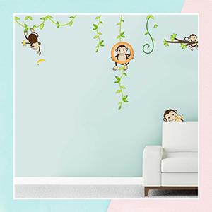 Cheeky Monkey Wall Sticker for Kids Room