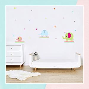 Cute Elephant Wall Sticker for Kids Room