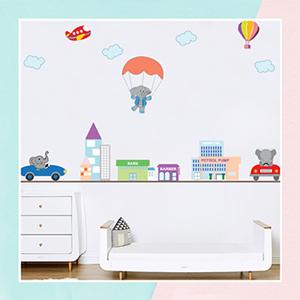 Elephant Wall Sticker for Kids