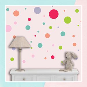 Multicolor Polka Dots Wall Sticker
