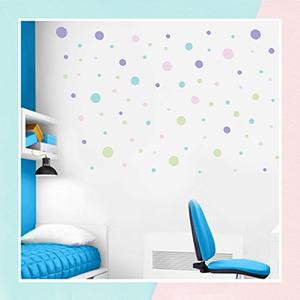 Pastel Polka Dots Wall Sticker for Kids