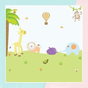 Pattern Animals Wall Sticker for Kids