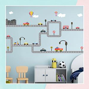 Transport Wall Sticker for Kids Room
