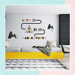 Scandinavian Wall Stickers for Kids Room