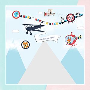 Up & Away on an Aeroplane Wallpaper