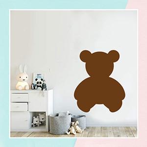 Teddy Bear Chalk Walls Decal for Kids
