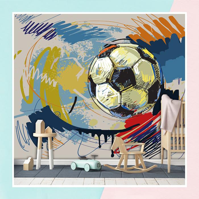 Graffiti Football Theme Wallpaper